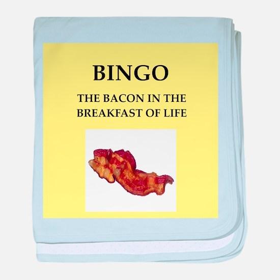 bingo baby blanket