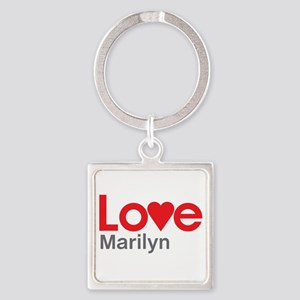 I Love Marilyn Square Keychain