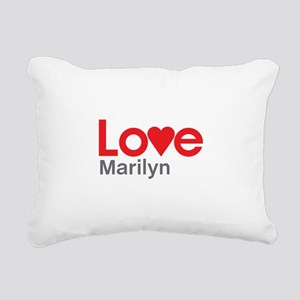 I Love Marilyn Rectangular Canvas Pillow
