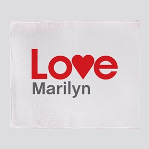 I Love Marilyn Throw Blanket