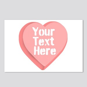 Candy Heart Postcards (Package of 8)