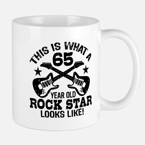 65 Year Old Rock Star Mug