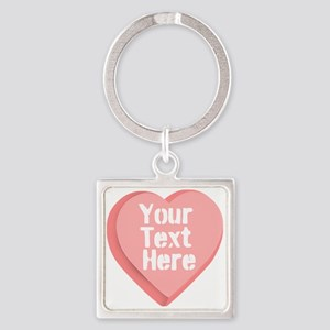 Candy Heart Square Keychain