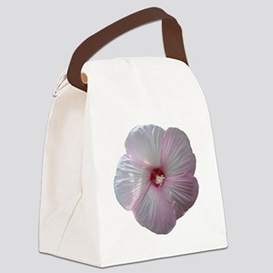 FloralWaves Pink Hibiscus Canvas Lunch Bag