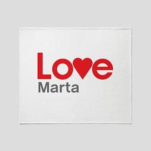 I Love Marta Throw Blanket