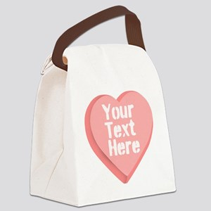 Candy Heart Canvas Lunch Bag