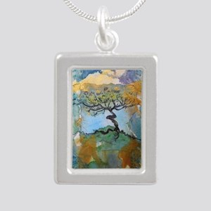 tree ! tree of life, art! Silver Portrait Necklace