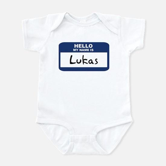 Hello: Lukas Infant Bodysuit