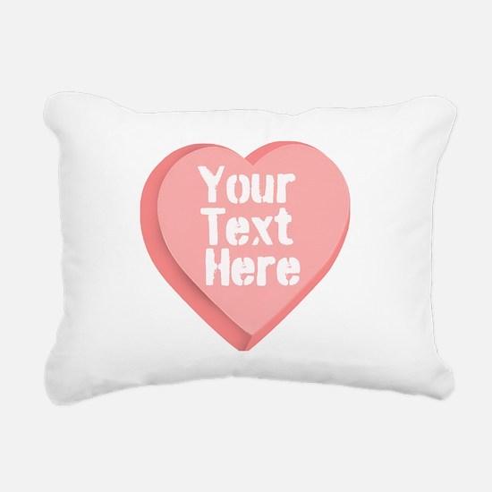 Candy Heart Rectangular Canvas Pillow