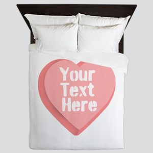 Candy Heart Queen Duvet