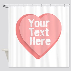 Candy Heart Shower Curtain