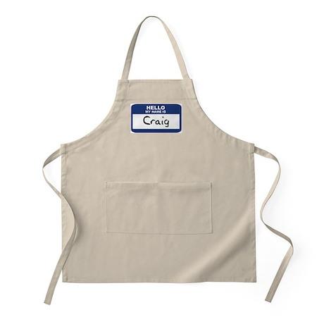 Hello: Craig BBQ Apron