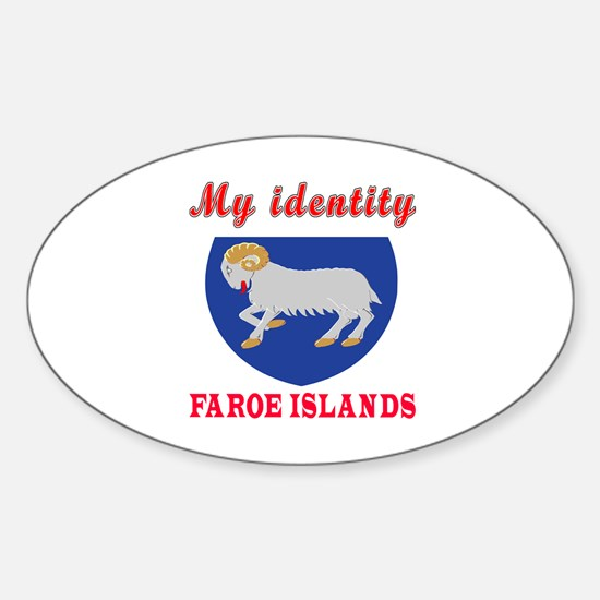 My Identity Faroe Islands Sticker (Oval)