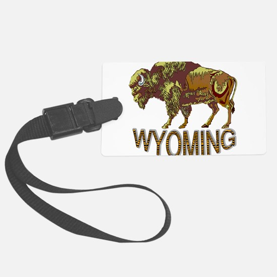 Wyoming state crest e3 Luggage Tag