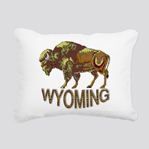 Wyoming state crest e3 Rectangular Canvas Pillow