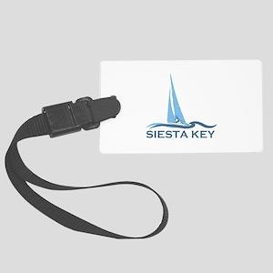 Siesta Key - Sailboat Design. Large Luggage Tag