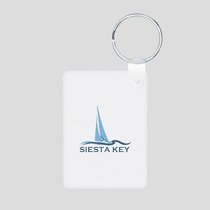 Siesta Key - Sailboat Design. Aluminum Photo Keych