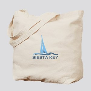 Siesta Key - Sailboat Design. Tote Bag