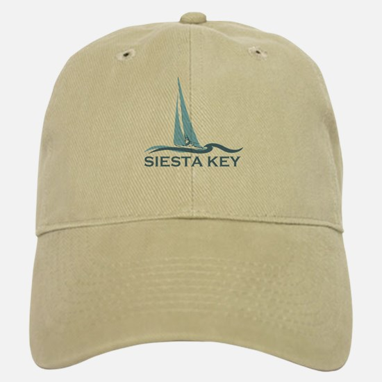 Siesta Key - Sailboat Design. Baseball Baseball Cap