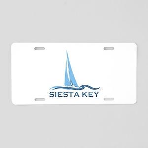 Siesta Key - Sailboat Design. Aluminum License Pla