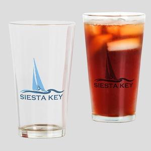 Siesta Key - Sailboat Design. Drinking Glass