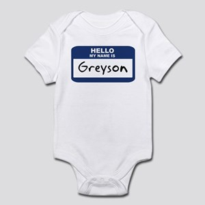 Hello: Greyson Infant Bodysuit