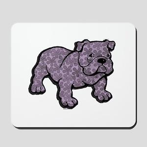 Flower bulldog Mousepad