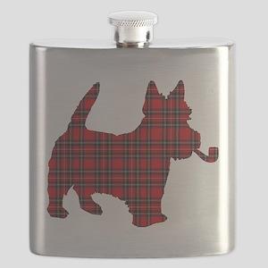Scottish Terrier Tartan Flask