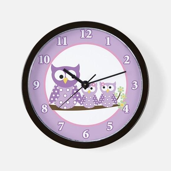 Cute Purple wall Wall Clock