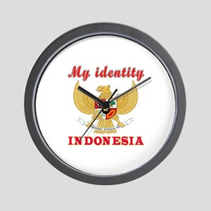My Identity Indonesia Wall Clock