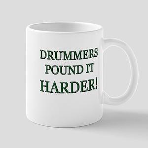 DRUMMERS POUND IT HARDER WHITE Mugs