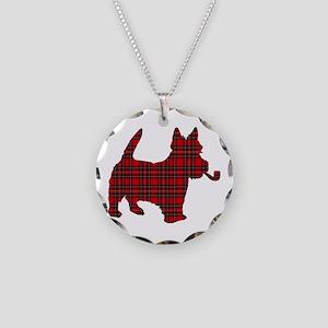 Scottish Terrier Tartan Necklace