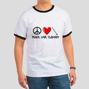 Peace, Love, Clarinet T-Shirt