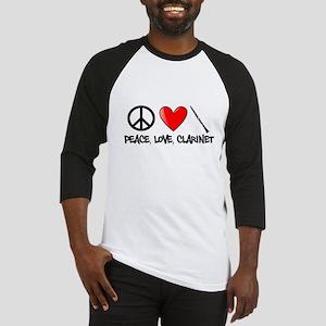 Peace, Love, Clarinet Baseball Jersey