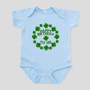 Shamrocks Happy Birthday to Me Infant Bodysuit