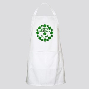 Shamrocks Happy Birthday to Me Apron