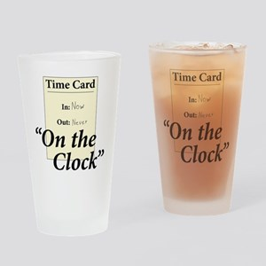 On The Clock Drinking Glass