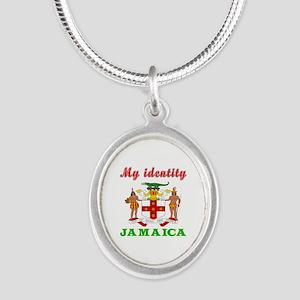 My Identity Jamaica Silver Oval Necklace