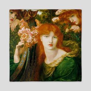 Ghirlandata by Rossetti Queen Duvet