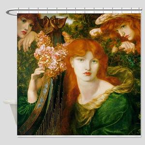 Ghirlandata by Rossetti Shower Curtain