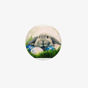 bunny and eggs Mini Button
