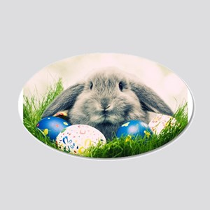 bunny and eggs Wall Decal
