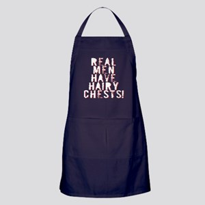 Real Men Have Hairy Chests Apron (dark)