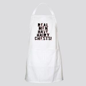 Real Men Have Hairy Chests Apron