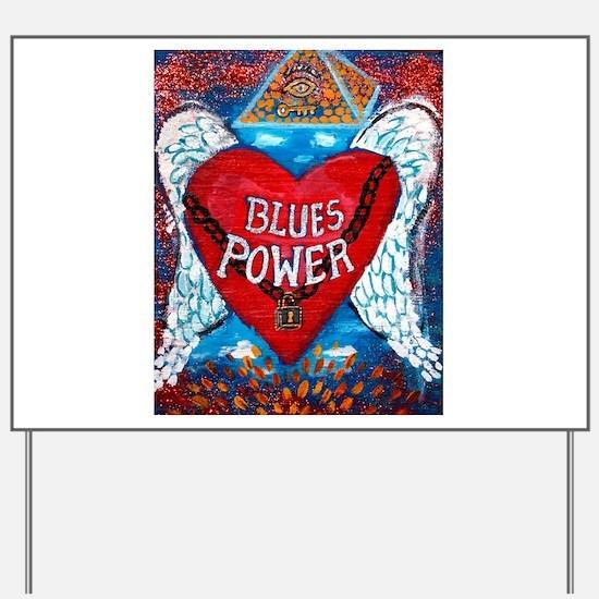 Blues Power Yard Sign