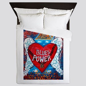 Blues Power Queen Duvet