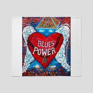 Blues Power Throw Blanket