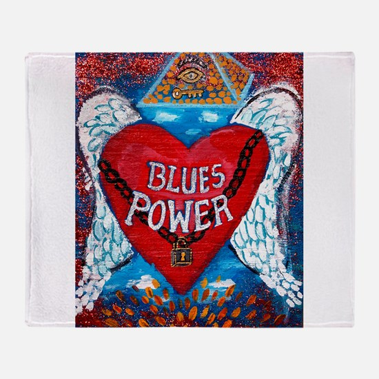 Blues Power Throw Blanket