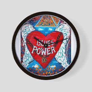 Blues Power Wall Clock