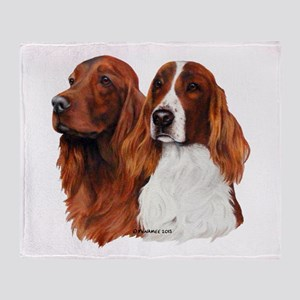 Irish Setters Throw Blanket